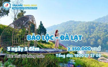 Tour du lịch Bảo Lộc - Đà Lạt 3 ngày 2 đêm giá rẻ chất lượng