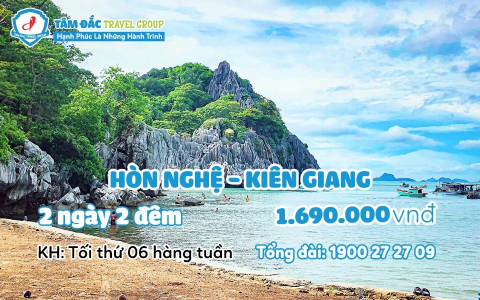 Tour du lịch Hòn Nghệ Kiên Giang 2 ngày 2 đêm